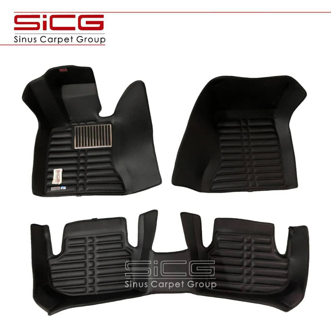 کفپوش سه بعدی چرمی مشکی اتاق BMW 5